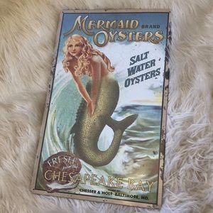 Other - Vintage Metal Mermaid Sign
